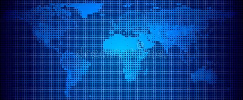 mapy styl świat technologii również zwrócić corel ilustracji wektora ilustracji