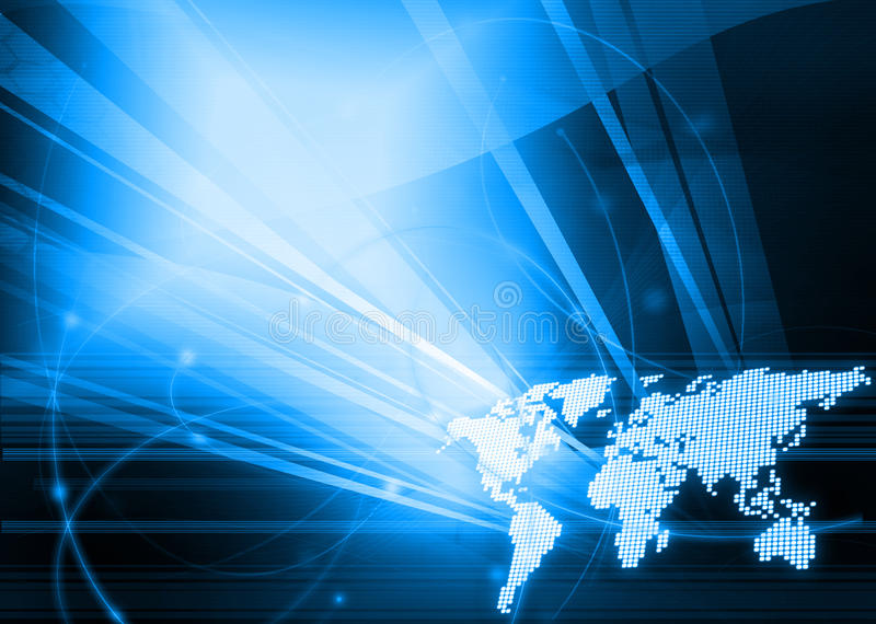 mapy stylowy technologii świat ilustracji