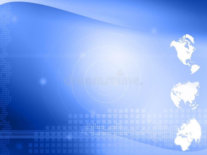 mapy stylowy technologii świat ilustracja wektor