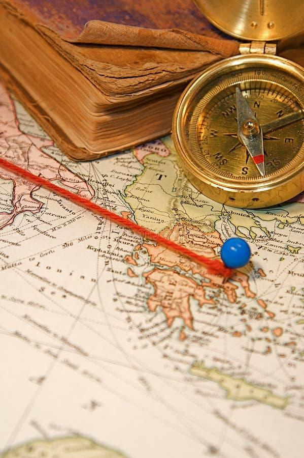 mapy szpilka fotografia royalty free