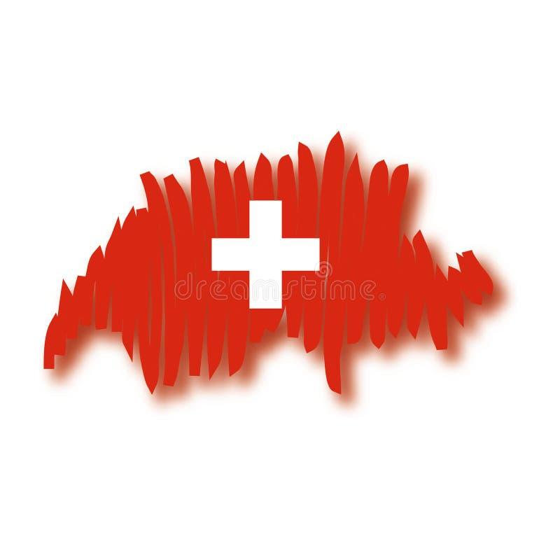 mapy Szwajcarii wektora ilustracja wektor
