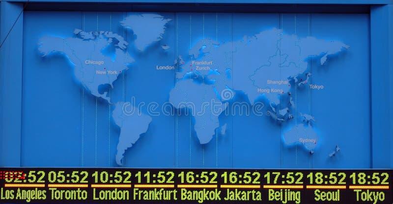 mapy timezone międzynarodowego obrazy royalty free