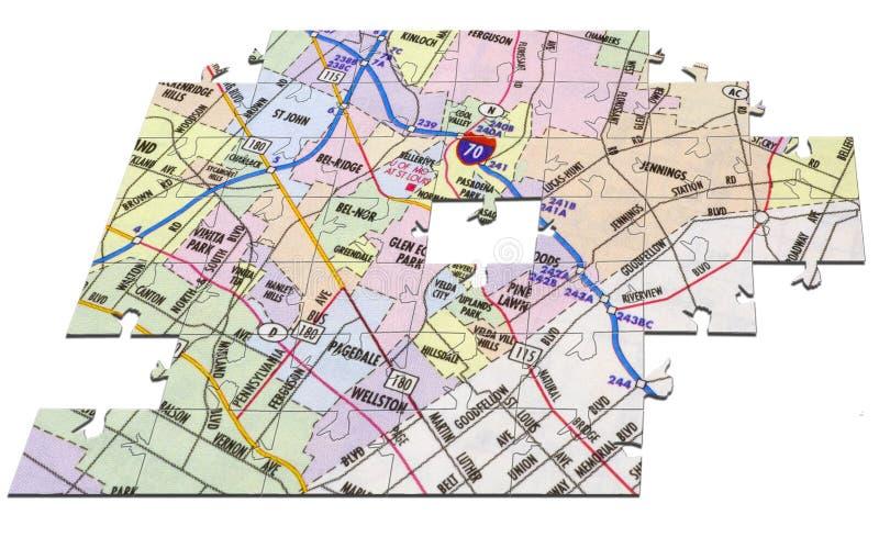 mapy układanki fotografia stock