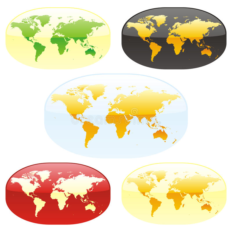 mapy vector świat ilustracja wektor