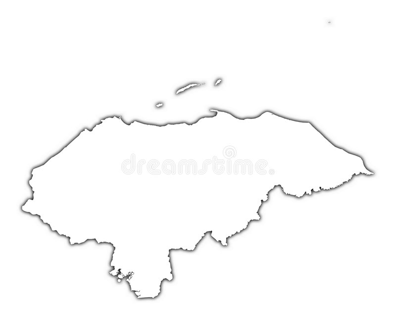 mapy zarys honduras ilustracji