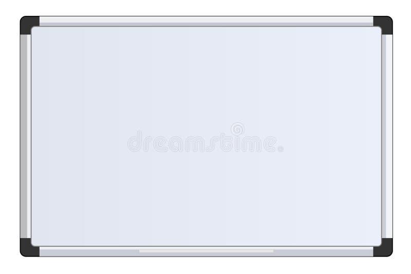 Maqueta aislada del tablero blanco de la oficina de la presentación del negocio ilustración del vector