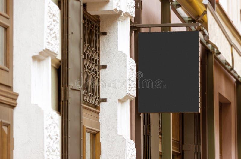 Maqueta al aire libre real en blanco de la muestra de la compañía imagenes de archivo