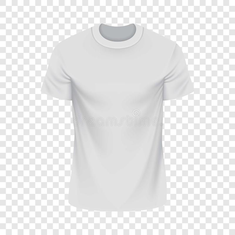 Maqueta blanca de la camiseta, estilo realista stock de ilustración