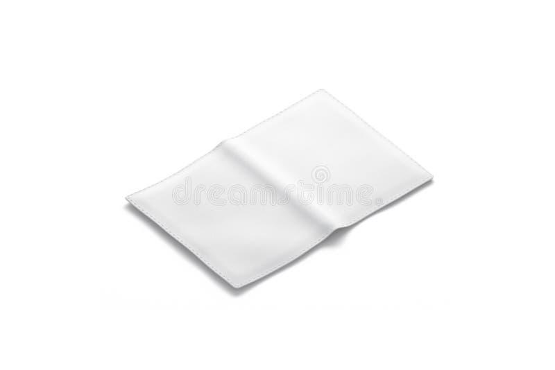Maqueta blanca en blanco de la cubierta del pasaporte, vista lateral trasera, aislada libre illustration