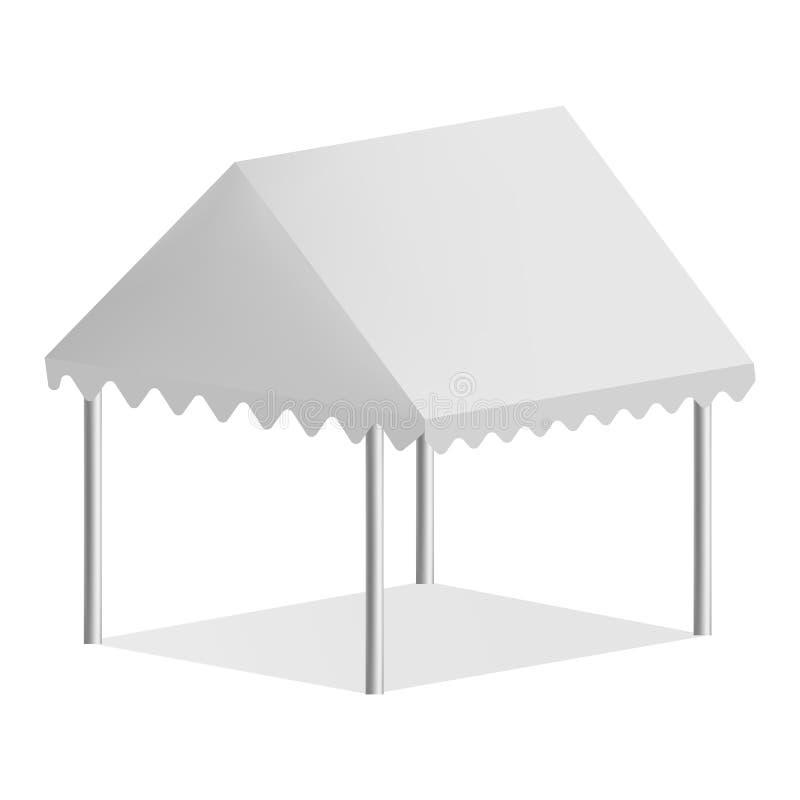 Maqueta comercial al aire libre de la tienda, estilo realista libre illustration