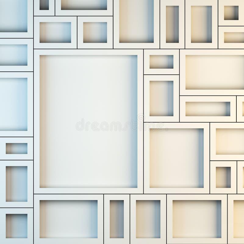 Maqueta de bastidores blancos vacíos ilustración del vector