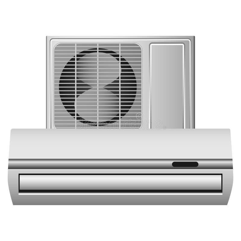 Maqueta de condicionamiento del sistema, estilo realista stock de ilustración