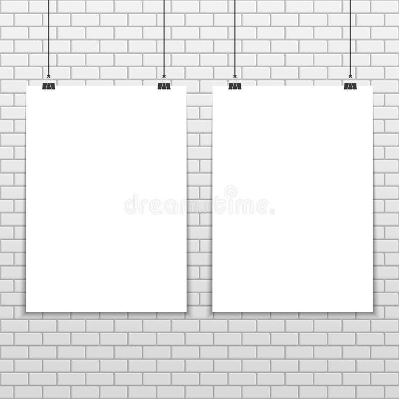 Maqueta A4 de dos carteles stock de ilustración