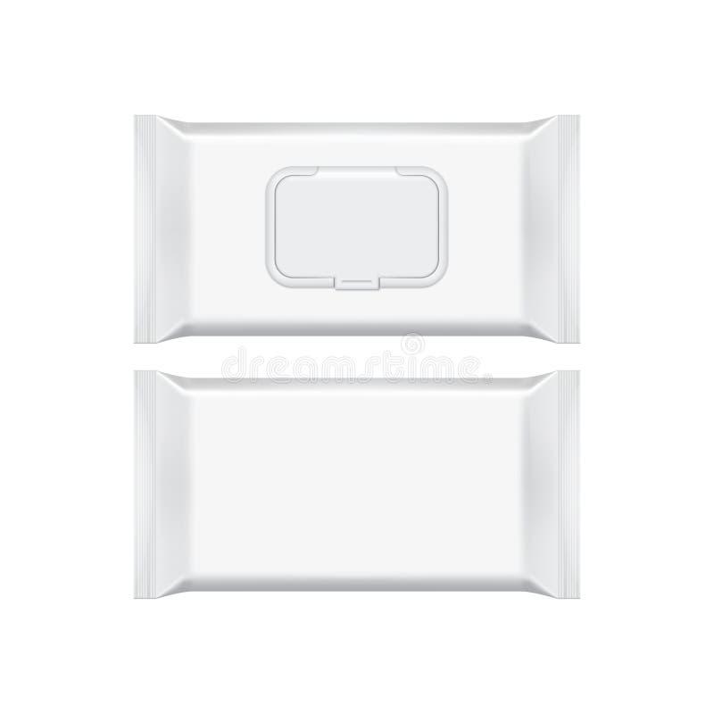Maqueta de empaquetado en blanco de la plantilla aislada en blanco libre illustration