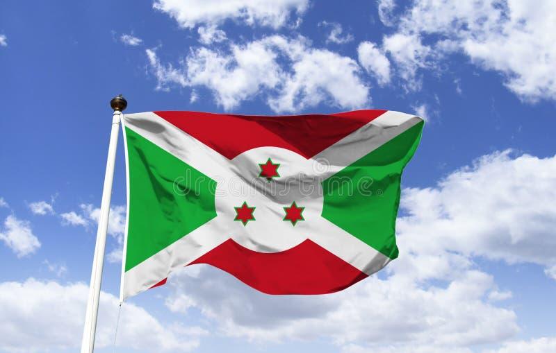 Maqueta de la bandera de Burundi que agita en el viento imágenes de archivo libres de regalías