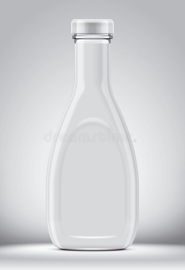 Maqueta de la botella de cristal imagen de archivo
