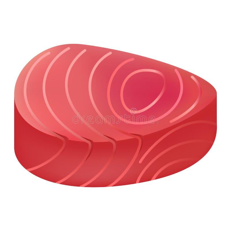 Maqueta de la carne del atún, estilo realista ilustración del vector