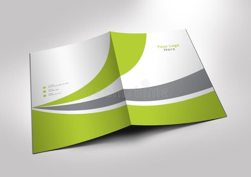 Maqueta de la carpeta de la presentación libre illustration
