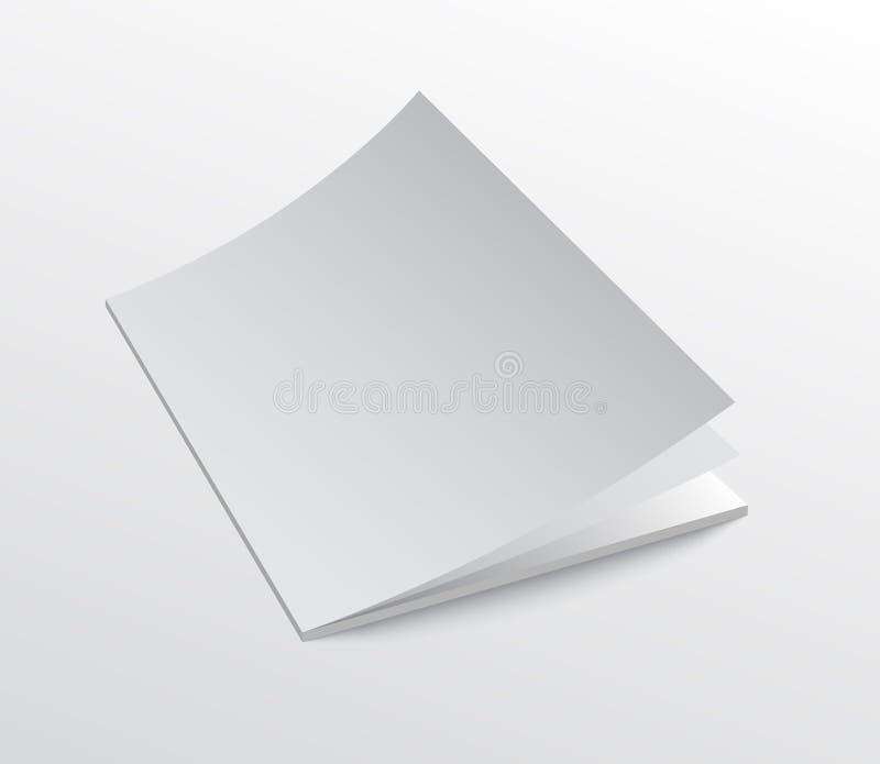 Maqueta de la cubierta del folleto con las páginas móviles abiertas libre illustration