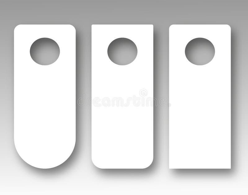 Maqueta de la suspensión de puerta Sistema del vector stock de ilustración