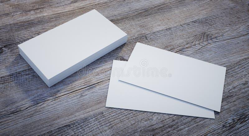 Maqueta de las tarjetas de visita blancas stock de ilustración