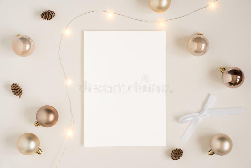 Maqueta de los efectos de escritorio de la Navidad fotos de archivo