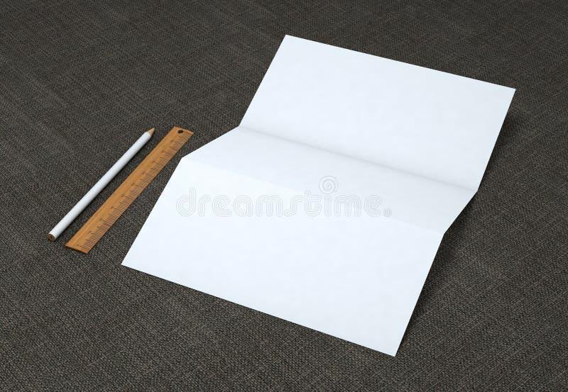 Maqueta de marcado en caliente de los efectos de escritorio corporativos en fondo gris fotos de archivo