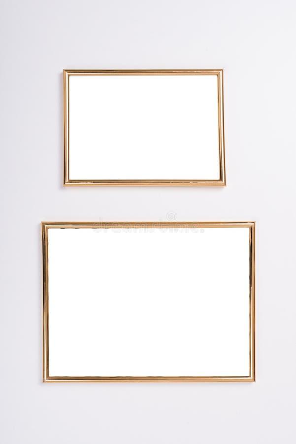 Maqueta de oro de dos marcos fotografía de archivo libre de regalías