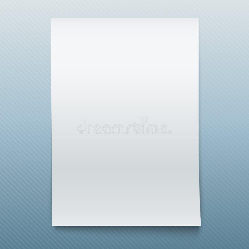 Maqueta de papel de la oficina en blanco. ilustración del vector