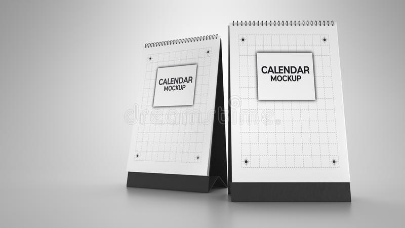 Maqueta del calendario libre illustration