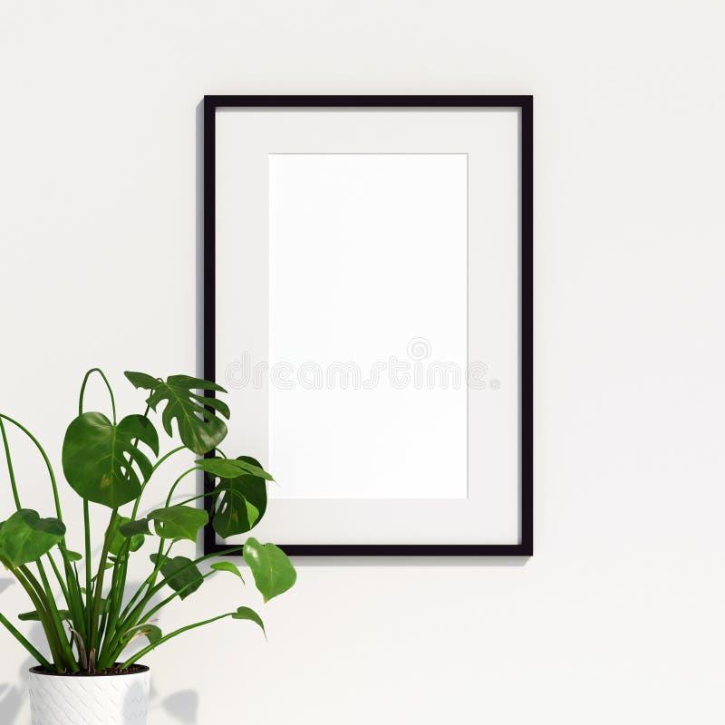 Maqueta del cartel con la decoración de la planta libre illustration