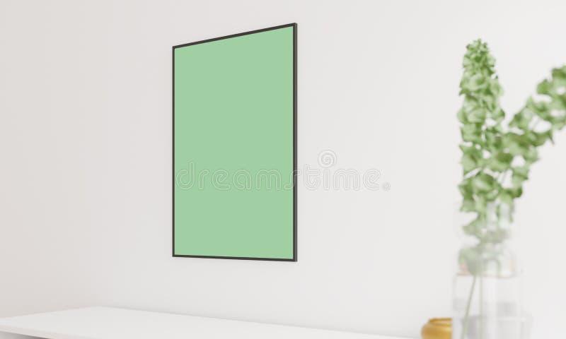 Maqueta del cartel en foco ilustración del vector