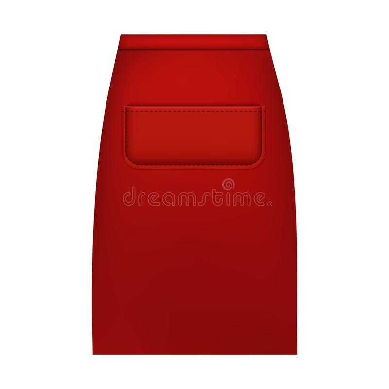 Maqueta del delantal de la cintura, estilo realista stock de ilustración