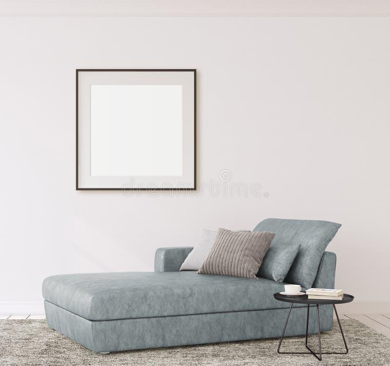 Maqueta del interior y del marco representación 3d stock de ilustración