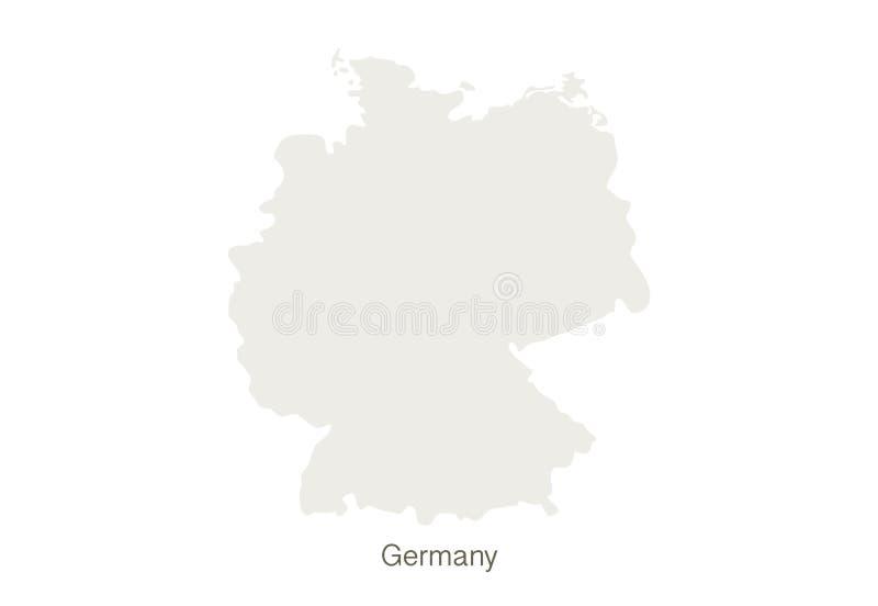 Maqueta del mapa de Alemania en un fondo blanco Plantilla del ejemplo del vector libre illustration