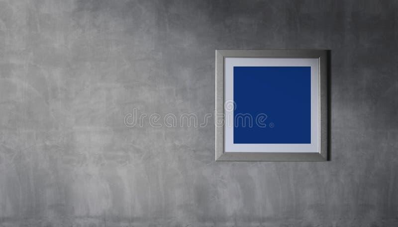 Maqueta del marco de la foto con la trayectoria de recortes Diseño de la decoración para una N foto de archivo