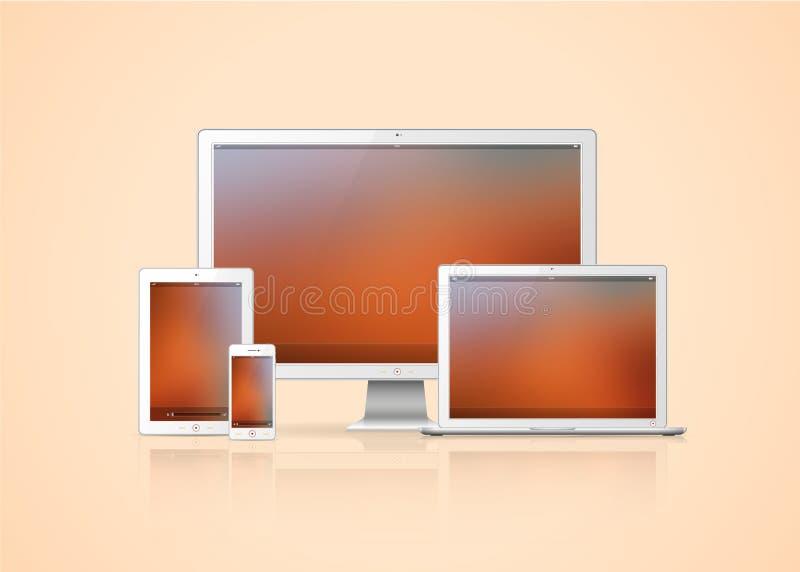 Maqueta del ordenador stock de ilustración