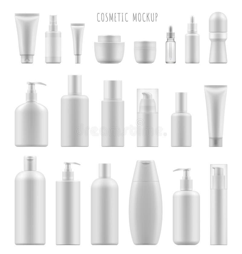 Maqueta del paquete cosmético stock de ilustración