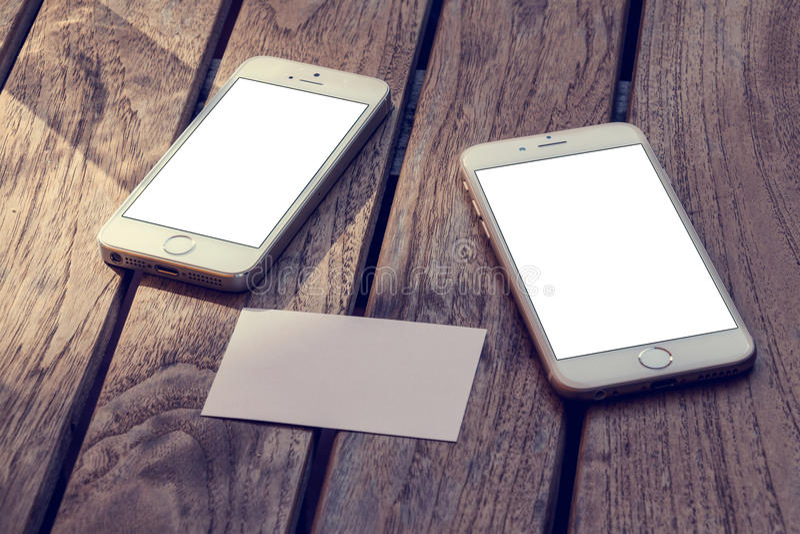 Maqueta del teléfono 6 imágenes de archivo libres de regalías