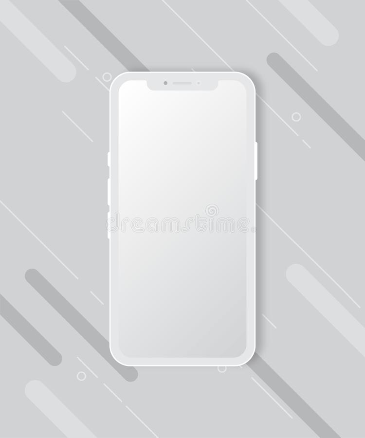 Maqueta del teléfono móvil en el fondo blanco imagenes de archivo