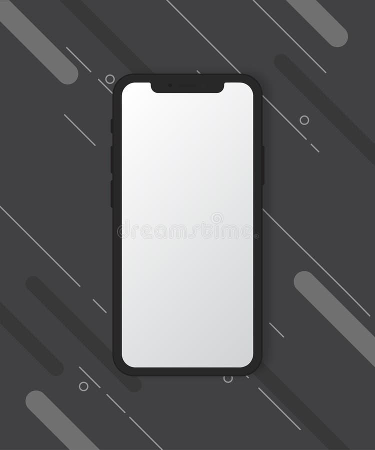 Maqueta del teléfono móvil en fondo negro fotografía de archivo libre de regalías