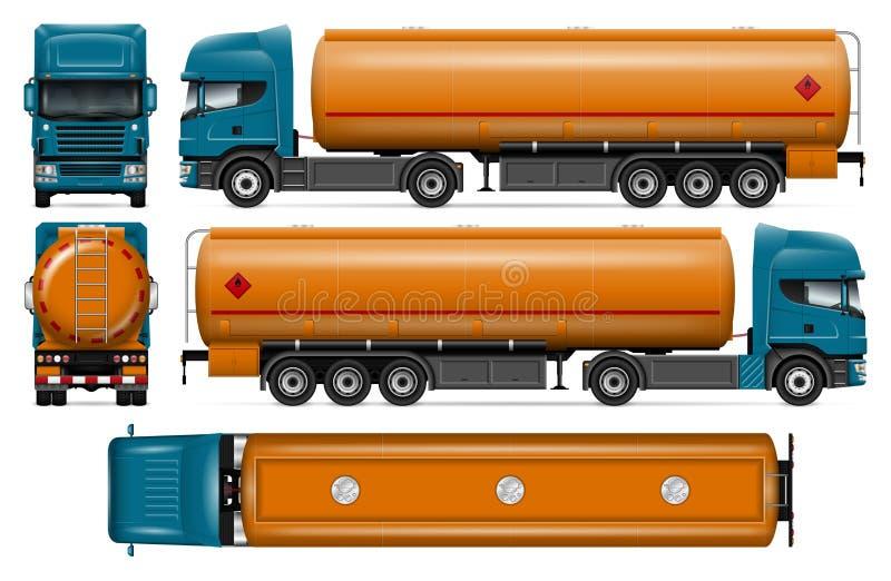 Maqueta del vector del camión de petrolero ilustración del vector