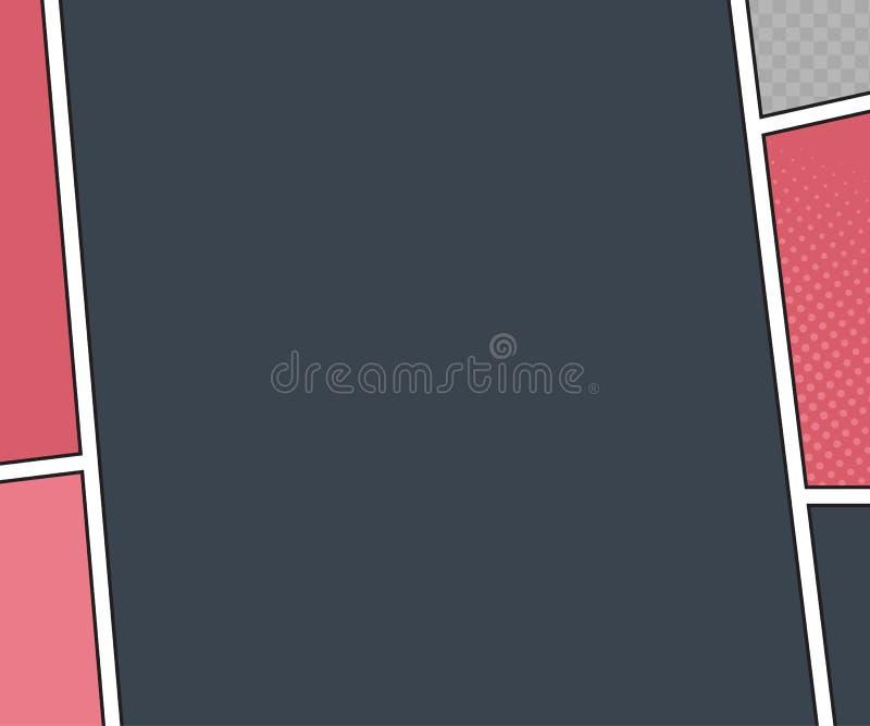 Maqueta del vector de la página del cómic estilo del arte pop libre illustration