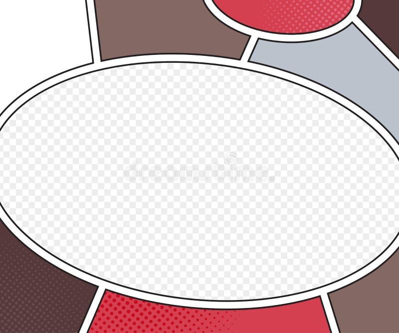 Maqueta del vector de la página del cómic estilo del arte pop ilustración del vector
