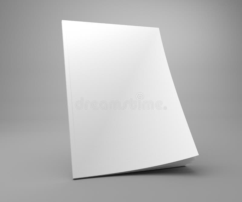 Maqueta en blanco de la revista de la cubierta del ejemplo de la situación 3D ilustración del vector