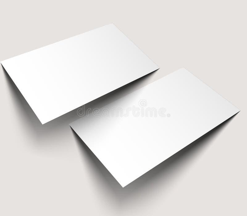 Maqueta en blanco de las tarjetas de visita libre illustration