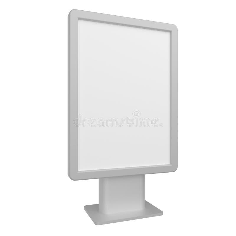 Maqueta en blanco del citylight de la caja de luz del ejemplo 3D aislada en blanco ilustración del vector