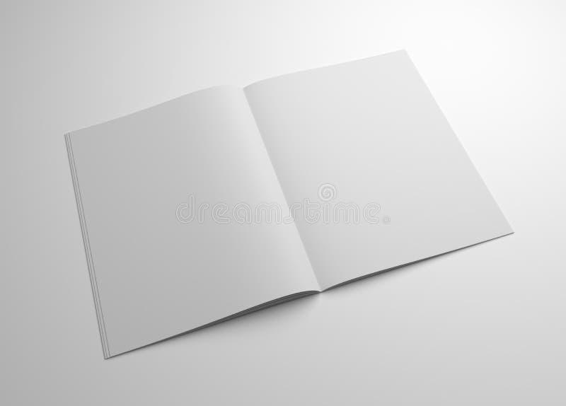 Maqueta en blanco del folleto del ejemplo 3D libre illustration