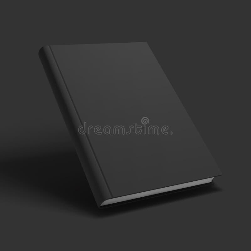 Maqueta en blanco del libro, del libro de texto, del folleto o del cuaderno stock de ilustración
