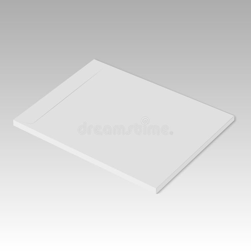 Maqueta en blanco realista de la plantilla del diseño de la carpeta Vector ilustración del vector